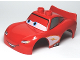 Part No: 88765pb02  Name: Duplo Car Body 2 Top Studs and Spoiler with Cars Lightning McQueen Looking Right Pattern