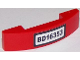 Part No: 93273pb051  Name: Slope, Curved 4 x 1 Double No Studs with Black 'BD16353' License Plate Pattern (Sticker) - Set 60119