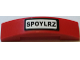 Part No: 93273pb063  Name: Slope, Curved 4 x 1 Double No Studs with Black 'SPOYLRZ' License Plate Pattern (Sticker) - Set 60027