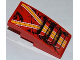 Part No: 93606pb008  Name: Slope, Curved 4 x 2 No Studs with Orange and White Lines and 3 Air Intakes Pattern (Sticker) - Set 9092