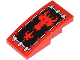 Part No: 93606pb015  Name: Slope, Curved 4 x 2 No Studs with Red Fire Breathing Dragon Head Pattern (Sticker) - Set 70404