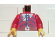 Part No: 973pb0019c01  Name: Torso Pirate Imperial Armada Brown belt and Blue Pattern / Red Arms / Yellow Hands