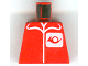 Part No: 973pb0035  Name: Torso Post Office Worker, Suit and Horn Logo Pattern