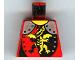 Part No: 973pb0105  Name: Torso Castle Dragon Knights Dragon Standing Pattern