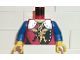 Part No: 973pb0105c02  Name: Torso Castle Dragon Knights Dragon Standing Pattern / Blue Arms / Yellow Hands