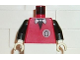 Part No: 973pb0232c01  Name: Torso Infomaniac with Bow Tie - LEGO Logo on Back Pattern / Black Arms / White Hands