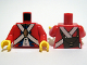 Part No: 973pb0527c01  Name: Torso Pirate Imperial Soldier Uniform with Knapsack on Back Pattern / Red Arms / Yellow Hands