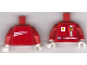 Part No: 973pb0544c01  Name: Torso Racers Ferrari front, White Streak back (Stickers) with K. Raikkonen Name Pattern / Red Arms / White Hands