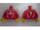 Part No: 973pb0556c01  Name: Torso Soccer Adidas Logo, Red and White No. 7 Pattern (Stickers) / Red Arms / Yellow Hands