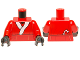 Part No: 973pb1233c01  Name: Torso Santa Jacket with Belt and Candy Cane Pattern (Santa Darth Maul) / Red Arms / Black Hands