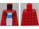 Part No: 973pb2261  Name: Torso Plaid Flannel Shirt over T-Shirt with Ford Logo Pattern