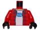 Part No: 973pb2261c01  Name: Torso Plaid Flannel Shirt over T-Shirt with Ford Logo Pattern / Red Arms / Black Hands
