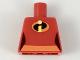 Part No: 973pb3111  Name: Torso Female Orange Belt and Incredibles Symbol Pattern (Violet Parr)
