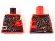 Part No: 973pb3263  Name: Torso Ninjago Armor Chain Mail with Reddish Brown Wide Belt and Black Sash Pattern