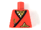 Part No: 973pb3420  Name: Torso Castle Ninja Wrap, Brown Dagger, Gold Star, Gold Scale Mail with White Highlights Pattern