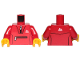 Part No: 973pb3547c01  Name: Torso Tracksuit with White Zippers and Mountain Logo Pattern / Red Arms / Yellow Hands