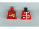 Part No: 973px131a  Name: Torso TV Logo, Zipper and ID Badge Pattern - LEGO Logo on Back
