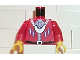 Part No: 973px136c01  Name: Torso Pirate Imperial Armada Black Belt, Silver Buttons, Necklace Pattern / Red Arms / Yellow Hands