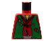 Part No: 973px14  Name: Torso Castle Ninja Vest Green Tattered Pattern (Robber)