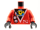 Part No: 973px51c01  Name: Torso Divers Submarine Logo and Gauges Pattern / Red Arms / Black Hands