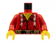 Part No: 973px56c01  Name: Torso Western Bandit Suspenders and Ammunition on Belt Pattern / Red Arms / Yellow Hands