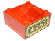 Part No: 98456pb02  Name: Duplo, Train Cab / Tender Base with Bottom Tubes and 4281 Locomotive Pattern on Both Sides