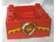 Part No: 98456pb04  Name: Duplo, Train Cab / Tender Base with Bottom Tubes with Lion on Shield Pattern