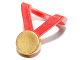 Part No: 99250pb01  Name: Minifigure, Neckband with Gold Medal Pattern
