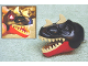 Part No: TRexHead  Name: Dino Head Tyrannosaurus rex with Black Top and Light-Up Eyes