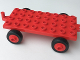 Part No: dupbaseold  Name: Duplo Car Base 4 x 8 x 1/3 with Old Style Closed Hitch End