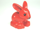 Part No: dupbunnyc01pb02  Name: Duplo Bunny / Rabbit Head Pointed Straight with Black Eyes and Black Nose Pattern