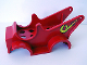 Part No: dupcarbody01  Name: Duplo Car Body Fire Pumper with Hose Pattern (fits over Car Base 2 x 6)