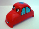 Part No: dupcarbody05  Name: Duplo Car Body Rounded with Face Pattern & Sound (fits over Car Base 2 x 4)