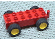 Part No: duppull  Name: Duplo Car Base 2 x 6 Pullback Motor with Yellow Wheels, Black Tires