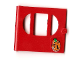 Part No: fabak3pb06  Name: Fabuland Door with Oval pane in 3 sections with Padlock Pattern (Sticker) - Set 3669