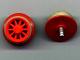 Part No: wheel2ac02  Name: Train Wheel Spoked (for motor), with Light Gray Train Rim for 4.5V & 12V Locomotive Wheels (wheel2A / trainrim)