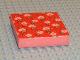 Part No: x1pb03  Name: Foam, Scala, 7 x 7 Cloth Top, Light Salmon Flowers and Green Leaves Pattern