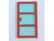 Part No: x39c01pb01  Name: Door 1 x 4 x 6 with 3 Panes with Trans-Light Blue Glass with 4 White Stripes Pattern (Sticker) - Set 7892