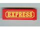 Part No: x979pb03  Name: Duplo Door 1 x 4 x 1 with Yellow EXPRESS Pattern