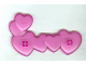 Part No: 48349  Name: Clikits Icon, Hearts (Six Connected) with Two Pins