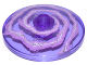 Part No: 3960pb032  Name: Dish 4 x 4 Inverted (Radar) with White and Lavender Lightning Swirl Pattern