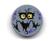 Part No: 14769pb188  Name: Tile, Round 2 x 2 with Bottom Stud Holder with Purple Rock Spots, Yellow Eyes with Pupils, Black Mouth, Big Blocky Teeth (Bouldron) Pattern