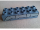Part No: 2300pb003  Name: Duplo, Brick 2 x 6 with Pipe Pattern