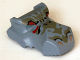 Part No: 30459pb02  Name: Dinosaur Head Tyrannosaurus rex, Jaw Top, Set 6720 Pattern - Dark Gray and Red
