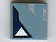 Part No: 3068bpb0141  Name: Tile 2 x 2 with One White Triangle Pattern 1 (Sticker) - Set 7252