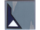 Part No: 3068bpb0398  Name: Tile 2 x 2 with One White Triangle Pattern 2 (Sticker) - Set 7252