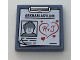 Part No: 3068bpb1043  Name: Tile 2 x 2 with Clipboard with 'ARKHAM ASYLUM', Joker Image and Red 'H & J' in Heart Pattern