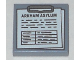 Part No: 3068bpb1051  Name: Tile 2 x 2 with Clipboard with 'ARKHAM ASYLUM', Notes and Table Pattern