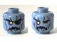 Part No: 3626cpb1963  Name: Minifigure, Head Alien with Yellow Right Eye, Eyepatch, Jagged Rock Mouth and Stone Cracks Pattern - Hollow Stud