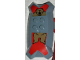 Part No: 51814pb01  Name: Nestle Promo Figure Santis Shield with Bear Pattern (Stickers) - Set 4945